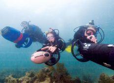 Undervandsscooter – legetøj og værktøj