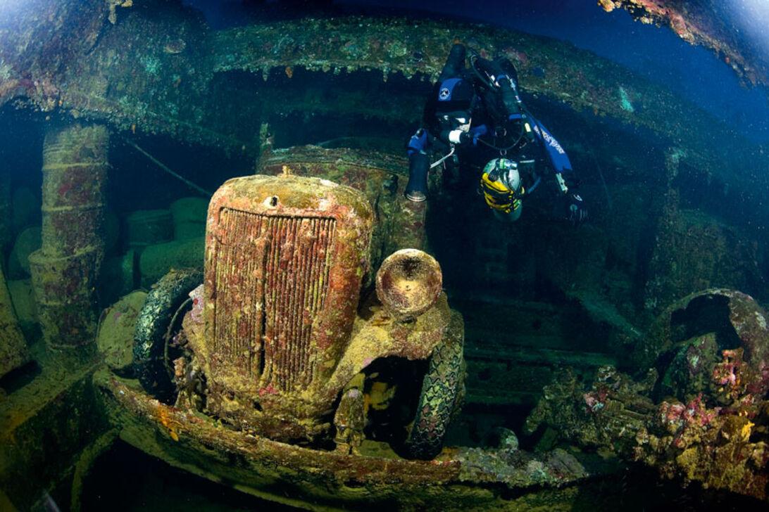 Truk Lagoon − Lagunens dybe vrag
