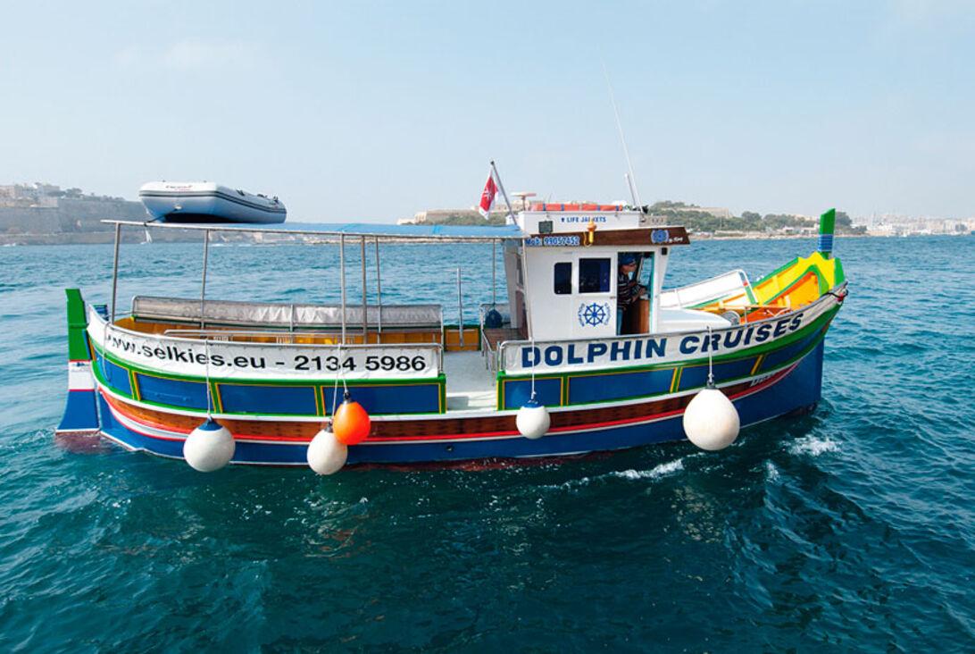 Jasons båd Blue Dolphin er en af de bedst vedligeholdte dykkebåde, jeg har set