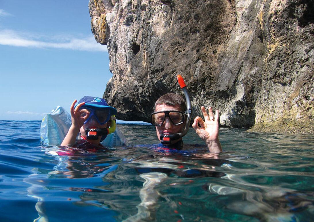 Dykning med familien