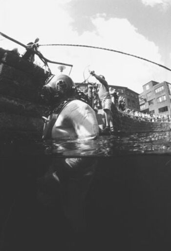 Den rigtige dykker – på opvisning med dykkehistorisk selskab