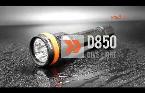 Introduktion af OrcaTorch D850 Dive Light Max 2500 lumens.