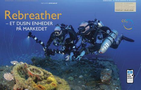 Rebreather – Et dusin enheder på markedet