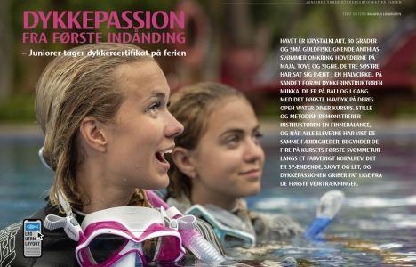 Dykkepassion fra første indånding – Juniorer tager dykkercertifikat på ferien