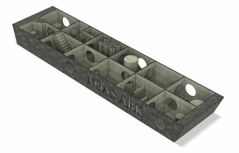 3D-billede af Noahs Ark.