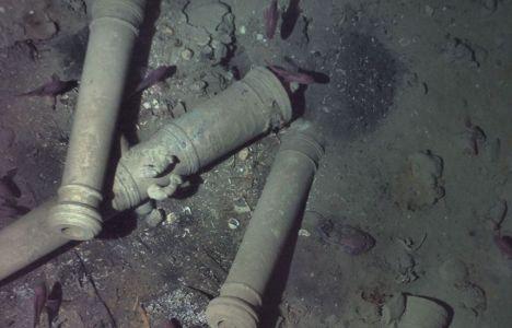 Kanonerne, der var med til at identifcere vraget