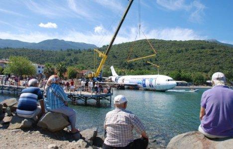 Airbus på vej ud på vandet