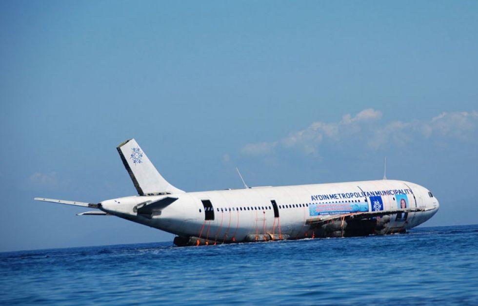 Airbus før den bliver sunket
