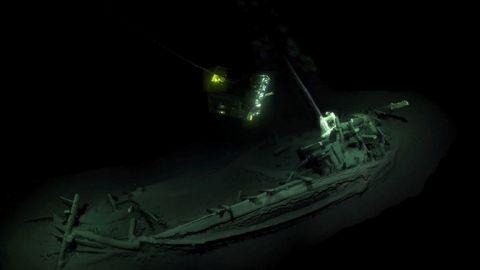 Det over 2400 år gamle vrag - Foto: Black Sea MAP/EEF Expeditions/AFP