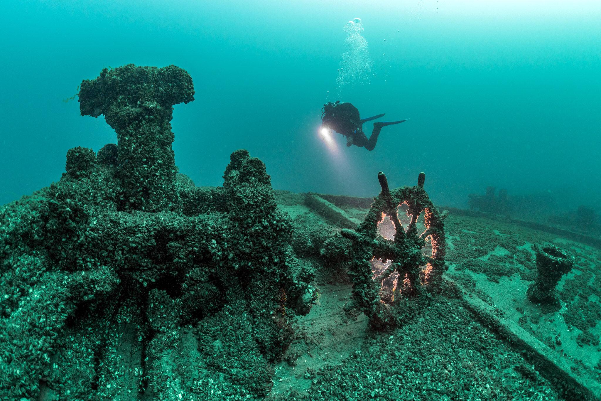 Vraget af William Young, Straits of Mackinac, USA
