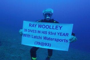 Ray Woolley på sit rekord-dyk
