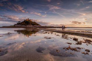 St. Michael's Mount i Mount's Bay, Cornwall, hvor vraget blev fundet